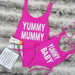 trajes de baño mama y bebe www.myeliexpress.com
