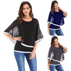 Blusa de Verano de Gasa ropa mujer Casual www.myeliexpress.com